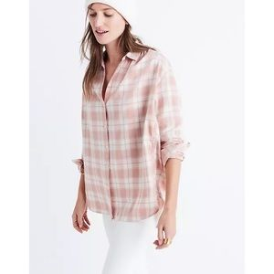 📌 Madewell Central Danville Plaid Button Up Shirt